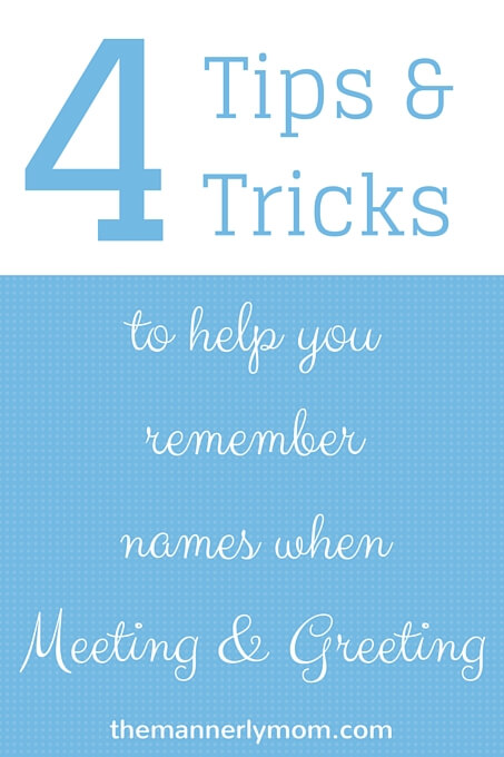 Tips and Tricks for Remembering Names
