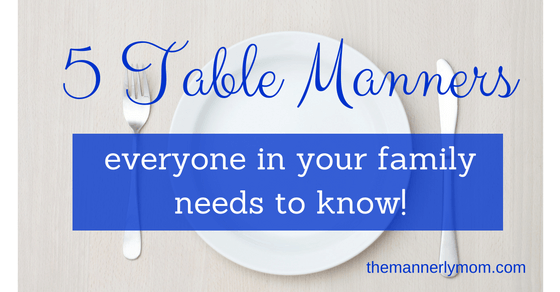 family table manners