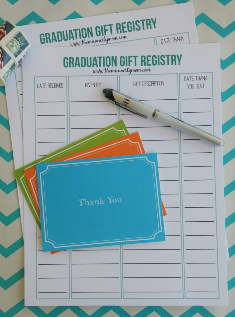 manners, high school graduation gifts