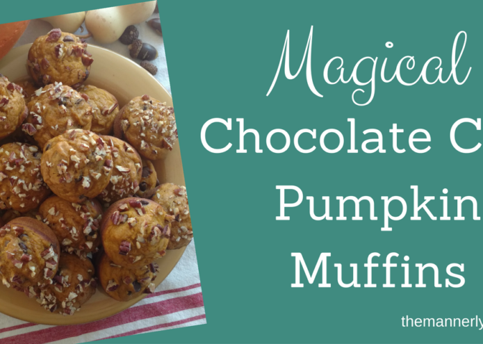 Magical Chocolate Chip Pumpkin Muffins
