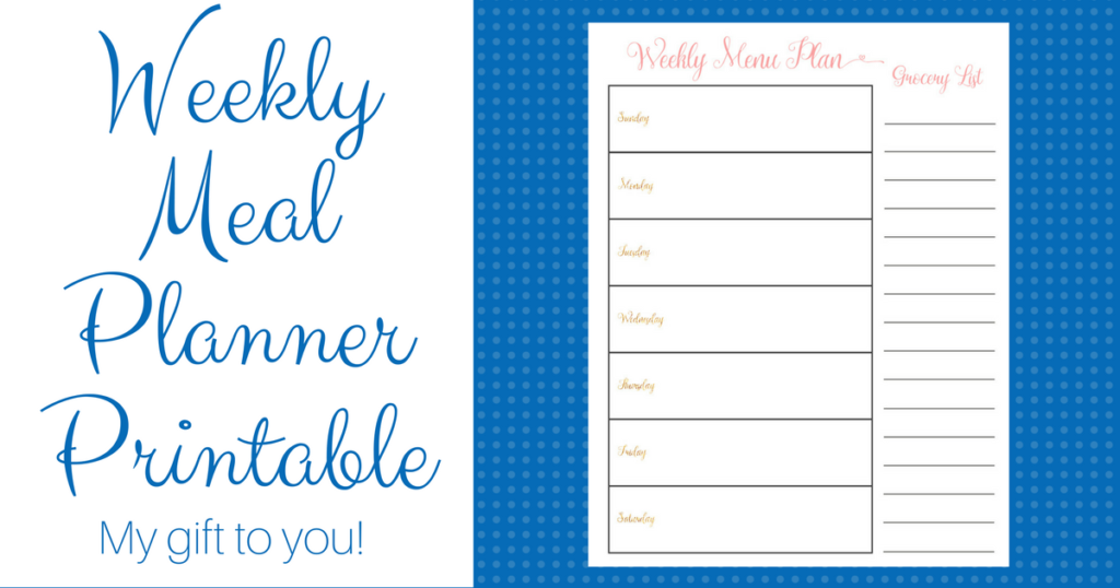 Meal Planner Printable for Busy Moms (It's Free!)