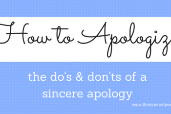 Oops! I'm sorry! How to Apologize